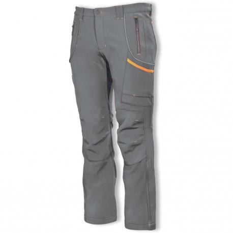 P81001 Zateplené softshellové kalhoty šedé