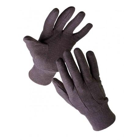 TR05 Rukavice šité z hnědé bavlněné teplákoviny