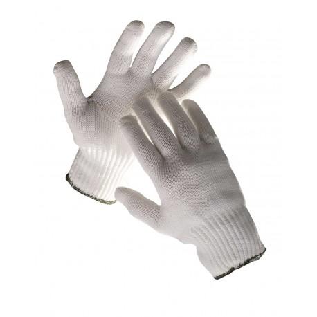 TR06 Pletené bezešvé rukavice ze směsi nylon/bavlna.