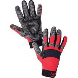 0002-2 Kombinované rukavice se silikonovým potiskem