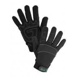 0002-3 Kombinované rukavice, pohodlné a odolné vůči srážení. velikost 10