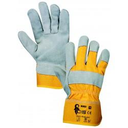 KR60 Kombinovaná kvalitní rukavice vyrobena z jednoho kusu silné kůže. velikost 11