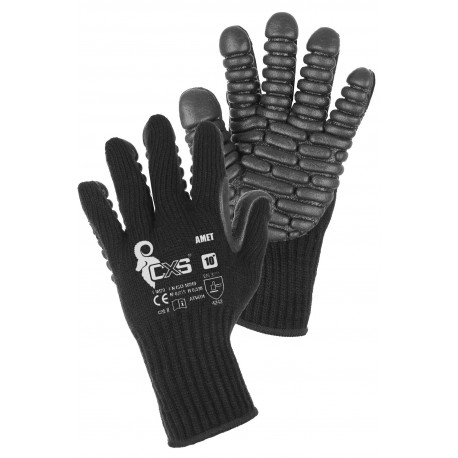 CR51 Pletené rukavice s antivibračními polštářky z pěnového latexu