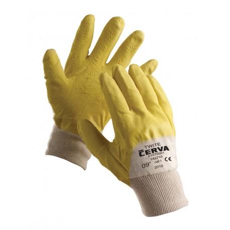 NR01 Rukavice šité z bavlny, polomáčené v přírodním latexu