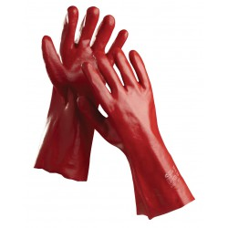 NR04 Rukavice šité z bavlněného úpletu, máčené v PVC, délka 45 cm