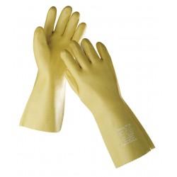 NR05 Rukavice šité z bavlněného úpletu, máčené v PVC