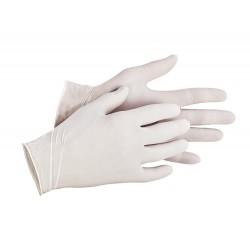 NR13 Jednorázové latexové pudrované rukavice vhodné pro krátkodobý styk s potravinami