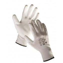 NR25 Pletené, bezešvé, nylonové rukavice s tenkou vrstvou polyuretanu