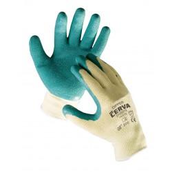 NR23 Pletené, bezešvé rukavice, kombinované s latexem