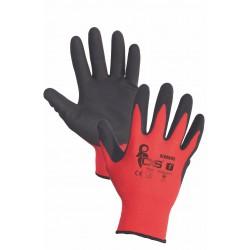 NR30 Rukavice s dlaněmi a prsty máčenými v nitrilu