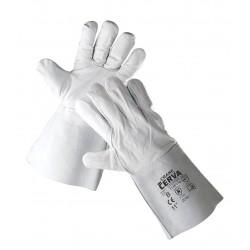 SR05 celokožené rukavice z lícové hověziny v dlani, hovězí štípenky na hřbetu