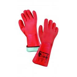 RZ04 Zimní rukavice máčené v silné vrtvě PVC