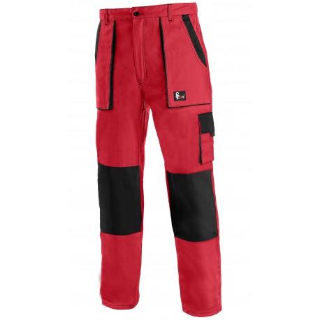 KP45C Pánské kalhoty do pasu červeno-černé Lux