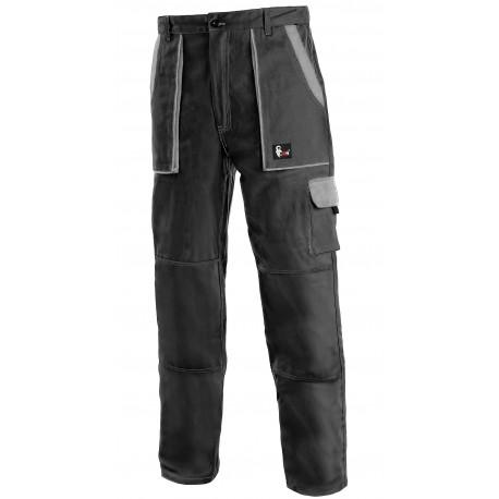 KP45C Pánské kalhoty do pasu černo-šedé Lux
