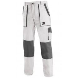 KP45B Pánské kalhoty do pasu bílo-šedé Lux