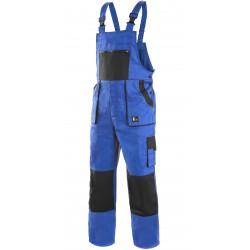 KP35M Pánské kalhoty s náprsenkou modro-černé Lux