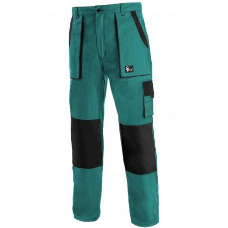 KP45-1Z Pánské kalhoty do pasu zeleno-černé Lux prodloužené