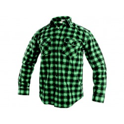KP27Z Košile flanelová zeleno-černá