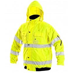 JK60 Pánská reflexní bunda žlutá