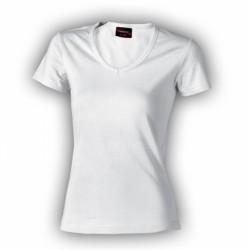 032-01 Tričko dámské do v bílé
