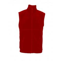 MVF13-04 Vesta pánská fleece červená