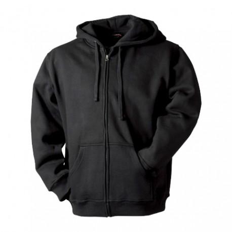 MS10-02 Mikina pánská na zip černá