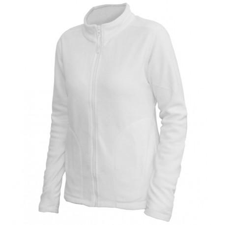 0680-01 Mikina dámská fleece bílá