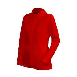 0100N-04 Mikina dámská fleece červená