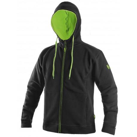OZ1614CZ Mikina pánská černo zelená