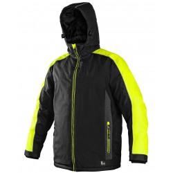 OZ1601CZ Pánská zimní bunda černo žlutá