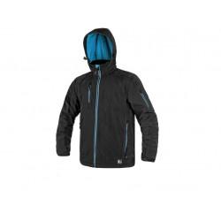 OZ1609CM Pánská softshell bunda černo modrá