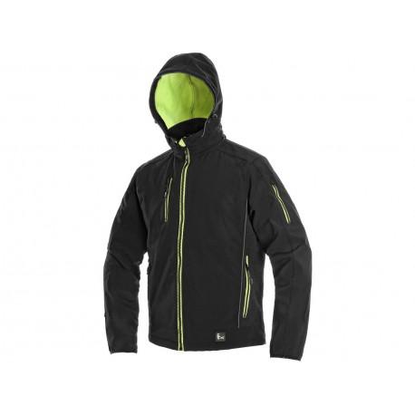 OZ1609CZ Pánská softshell bunda černo žlutá