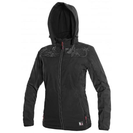 OZ1611CRN Dámská softshellová bunda černá