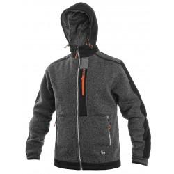 OZ1614SCO Pánská bunda z pleteniny šedo černo oranžová