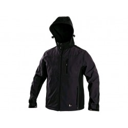 1230 Pánská softshell bunda šedo černá