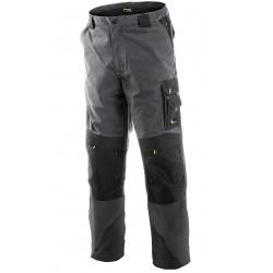 KP93 Pánské pasové kalhoty Nikolas šedo zelené