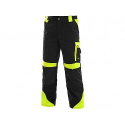 KP96CZ Kalhoty pasové Brighton černo žluté