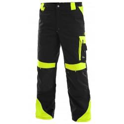 OZ281 Kalhoty zateplené pasové Brighton černo žluté