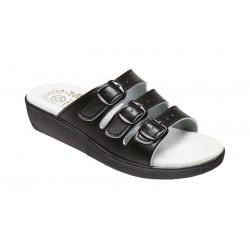 PO71-1 Pantofel dámský Fusbet třípáskový černý