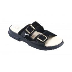 PO160P Zdravotní pantofel pánský černý