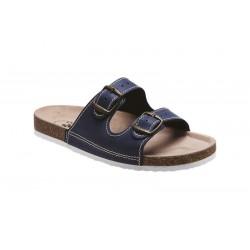 PO55-1P Zdravotní pantofel pánský modrý