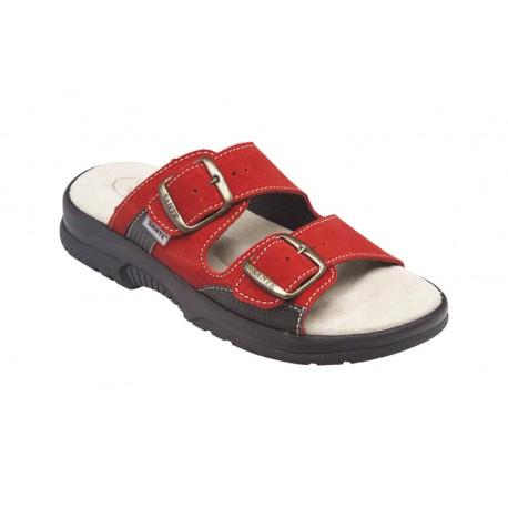 PO161 Zdravotní pantofel dámský červený