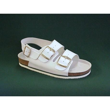 PO89 Zdravotní sandál dámský bílý
