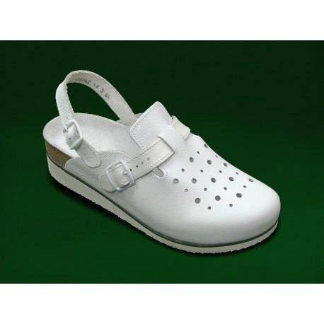 PO114P Zdravotní sandál pánský bílý