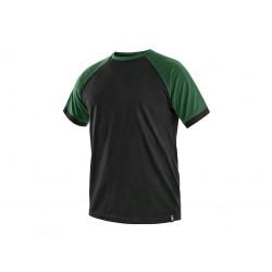 C001CZ Tričko pánské černo zelené