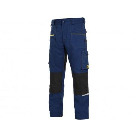 KP161SM Pánské kalhoty stretch do pasu středně modré